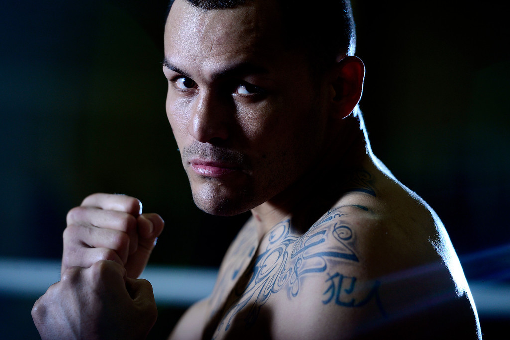 . Denver boxer Mike Alvarado will take the ring against Juan Manuel Marquez on Saturday, May 17, 2014 for the biggest fight of his life.  (Photo by AAron Ontiveroz/The Denver Post)