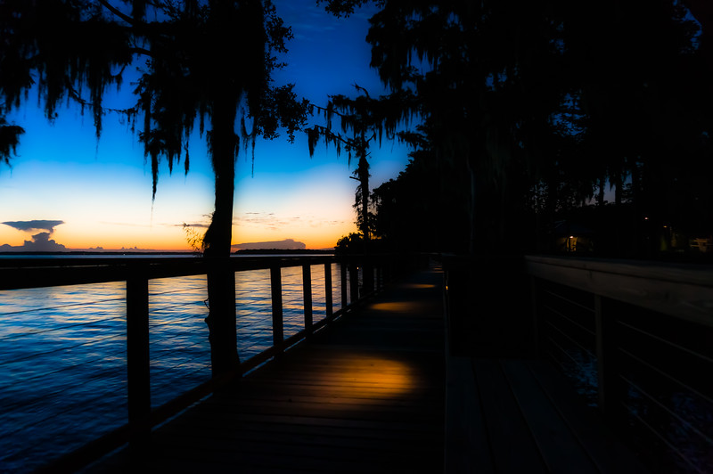 The RiverClub Boardwalk at Sunset