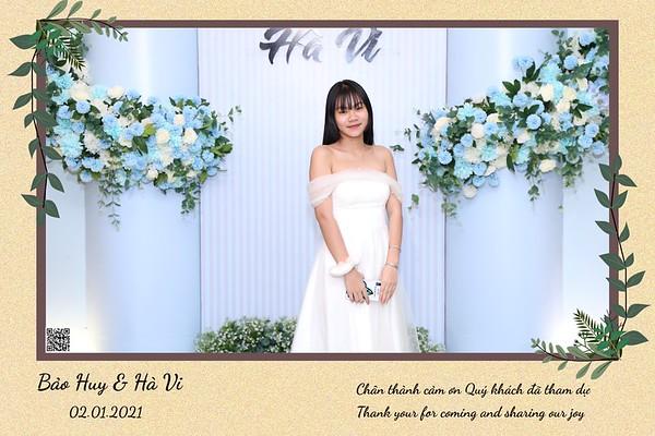 Bao Huy & Ha Vi wedding instant print photo booth @ Le Chateau Wedding Center | Chụp hình lấy li�n Tiệc cưới tại TP Hồ Chí Minh | WefieBox Photobooth Vietnam