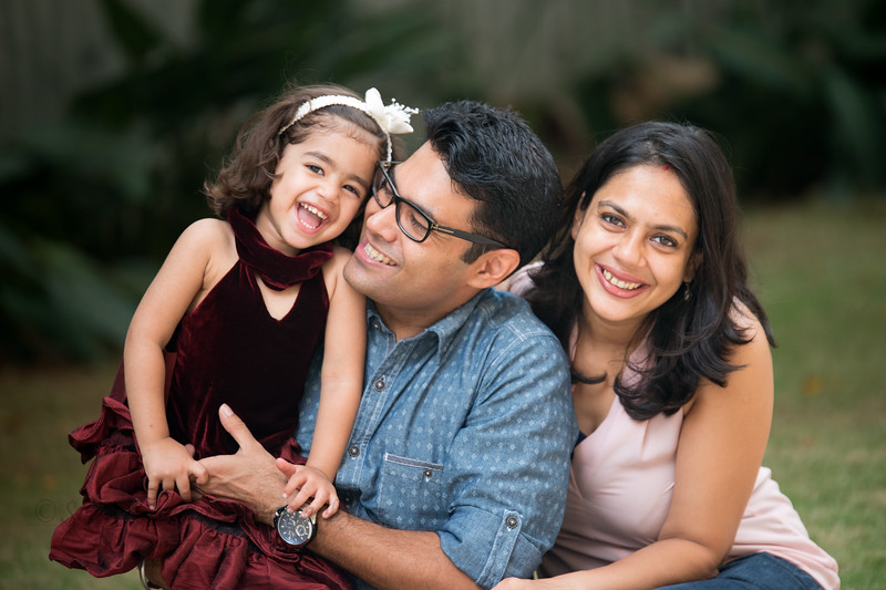 Piyush, Nimisha and Anaika Seth photoshoot at their home in Bengaluru.