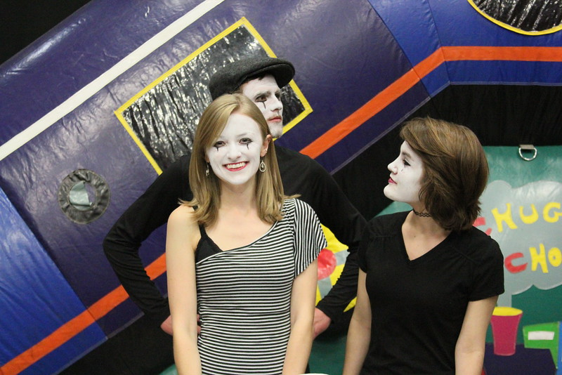 French Mosaic Club embracing their inner mime