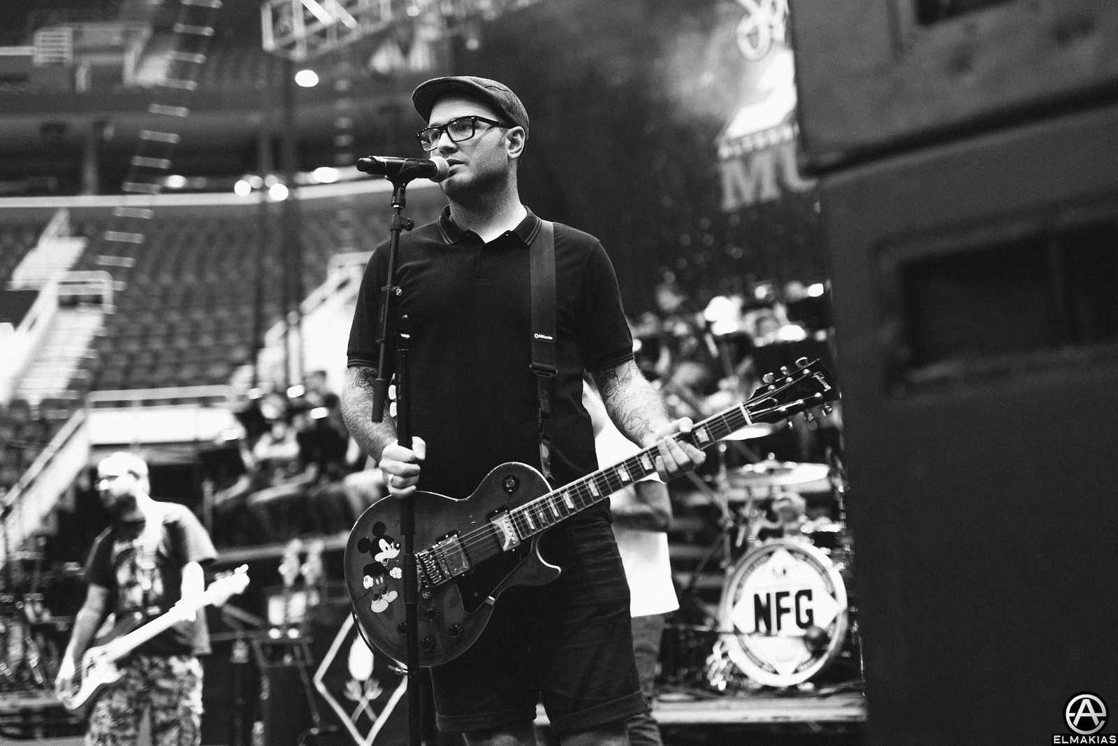 Chad Gilbert of New Found Glory at rehearsals for the Alternative Press Music Awards 2015 by Adam Elmakias