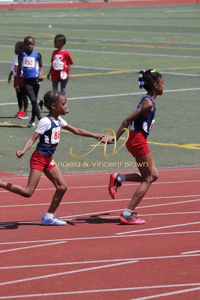 Champs: 8 & Under Girls 4x100M