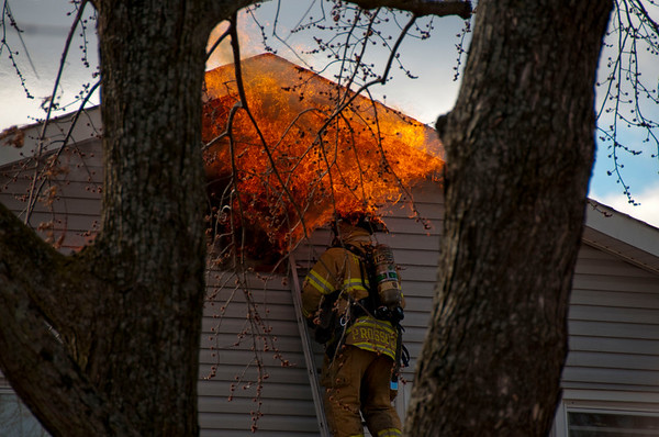 Hanover Park Chimney Fire - March 14, 2010