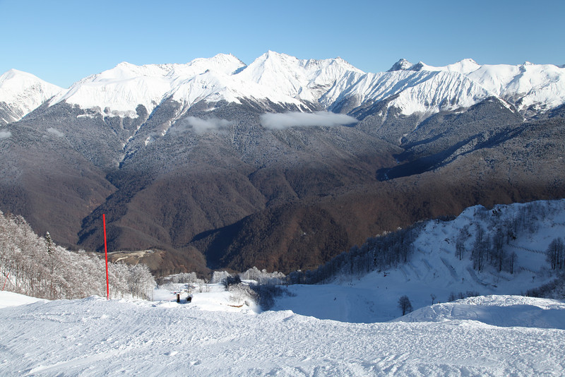 The Rosa Kultor Ski Area near Krasnaya Polyana, Russia. This will be host to downhill events of the 2014 Winter Olympic Games.