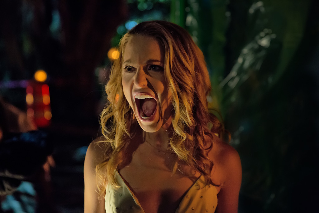 . Tree, portrayed by Jessica Rothe, is dying � again and again � on her birthday in �Happy Death Day.� The movie is in theaters Oct. 13. (Universal Pictures)