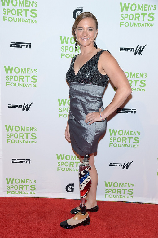 . NEW YORK, NY - OCTOBER 16:  Paratriathlete Melissa Stockwell attends the 34th annual Salute to Women In Sports Awards at Cipriani, Wall Street on October 16, 2013 in New York City.  (Photo by Michael Loccisano/Getty Images for the Women\'s Sports Foundation)