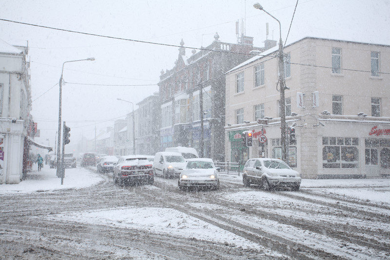Unusually heavy snow in Tullamore, Offaly - 28.02.18