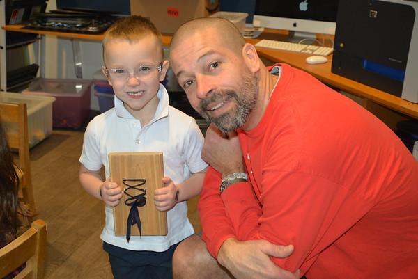 Shoe Tying Board Project with Mr. Grady!