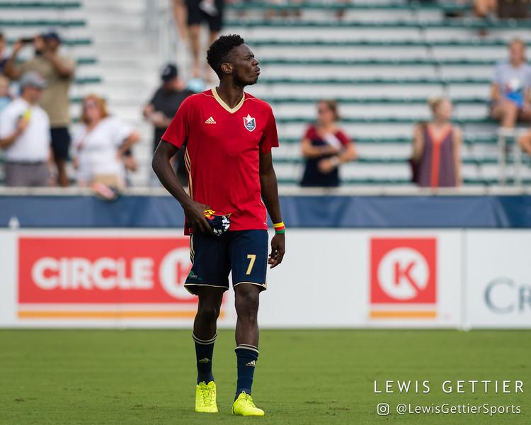 North Carolina FC forward Donovan Ewolo (7)