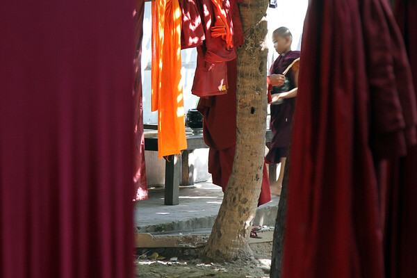 Maha Ganayon Kyaung monastery, near Mandalay, Myanmar