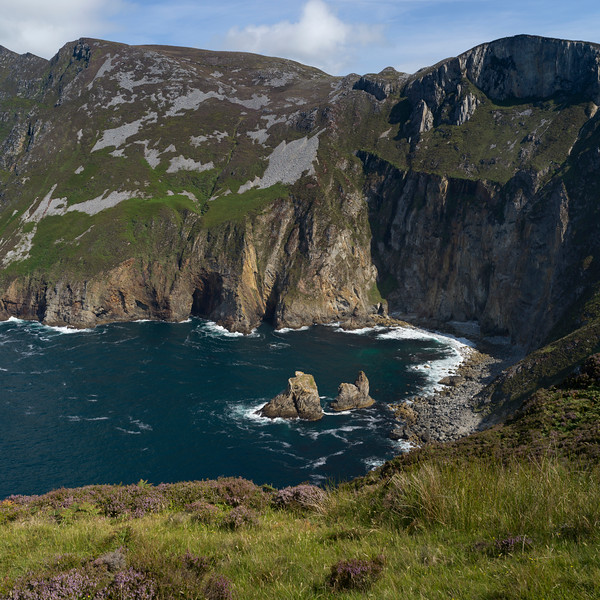Elevated view of coast, Slieve League, County Donegal, Ireland