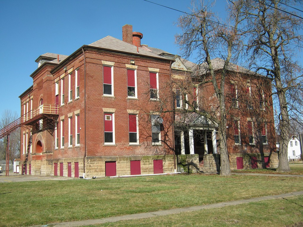 . Historic photo provided by Jim Smith <br> Harrison School was built in 1904 at 1922 Hamilton Ave., Lorain. It now is known as Harrison Cultural Center.