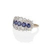 2.90ctw Old European Cut and Sapphire Princess Style Ring 1