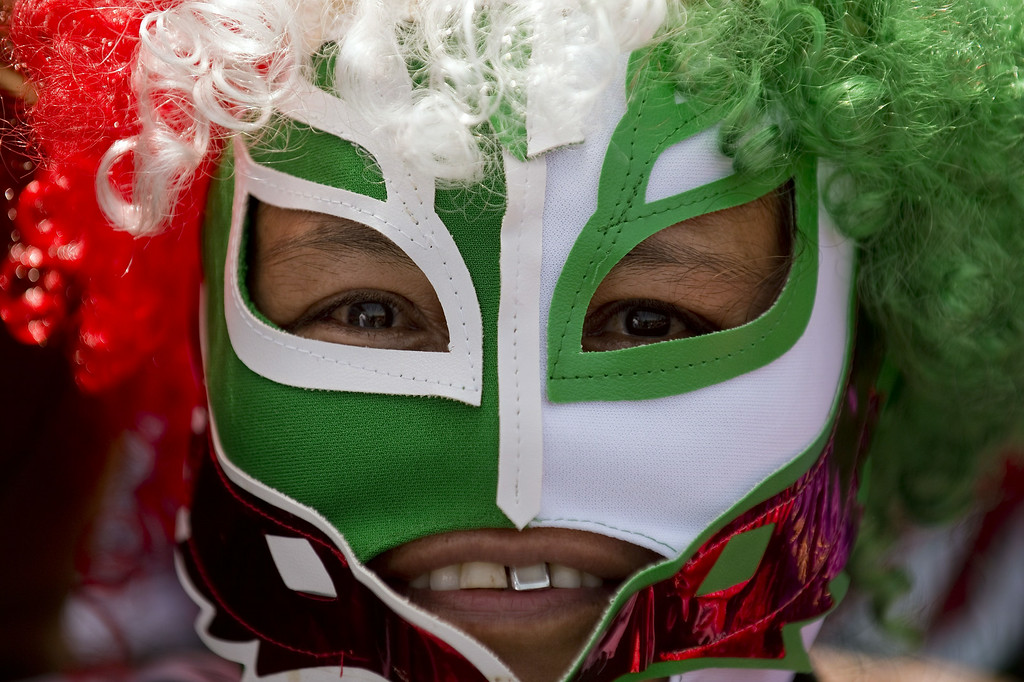 . A Mexican fan is pictured at Zocalo Square in Mexico City on June 29, 2014 after the national football team lost to the Netherlands 2-1 in their FIFA World Cup Brazil 2014 second round match.   ALFREDO ESTRELLA/AFP/Getty Images