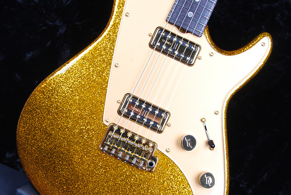 Reserve PlexiJet, Gold Sparkle, TV Jones Pickups