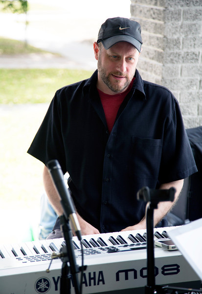 Andrew Lienhard at the keyboard.