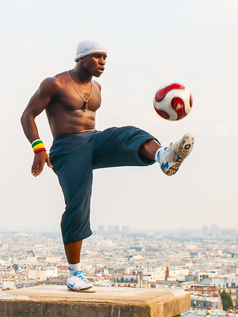 Footballer in Montmartre, Paris