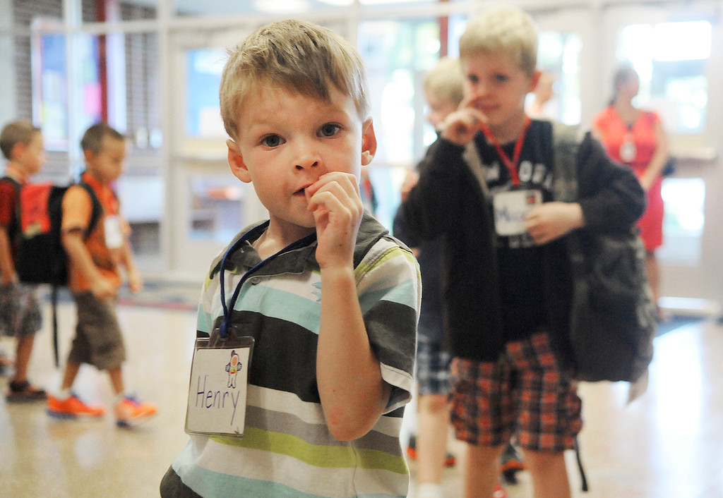 . Ballard Road Elementary School held their first day of classes for South Glens Falls School District Wednesday morning. Saratoga Springs also had their first day of classes.Photo Erica Miller/The Saratogian 9/4/13 news_FirstDay6_Thurs