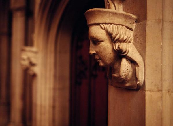 stone figures on doorway