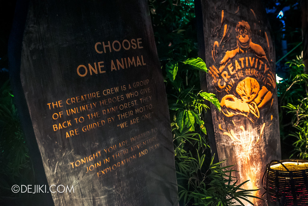 Singapore Zoo Rainforest Lumina - Garden of Virtues choose