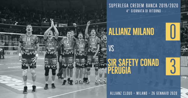 4^ Rit: Allianz Milano - Sir Safety Conad Perugia