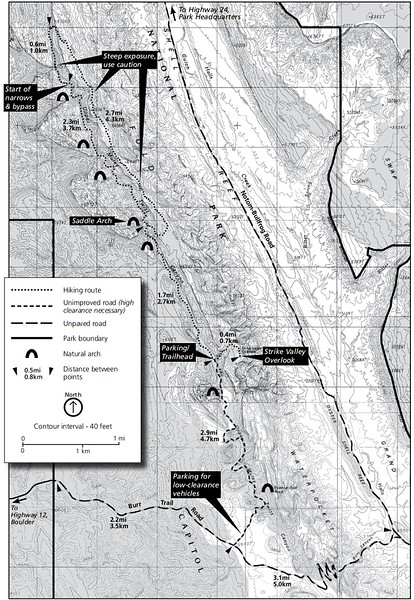 Capitol Reef National Park (Upper Muley Twist Area Trails)