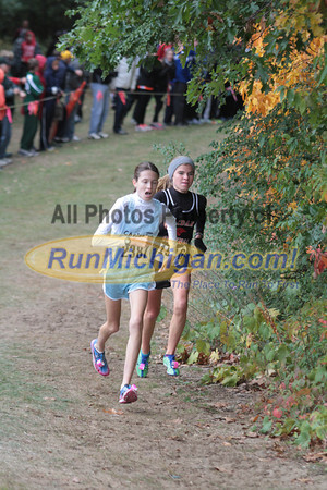 Girls Division 2 at 1 Mile & 1.5 Mile Marks - 2012 Portage Invite