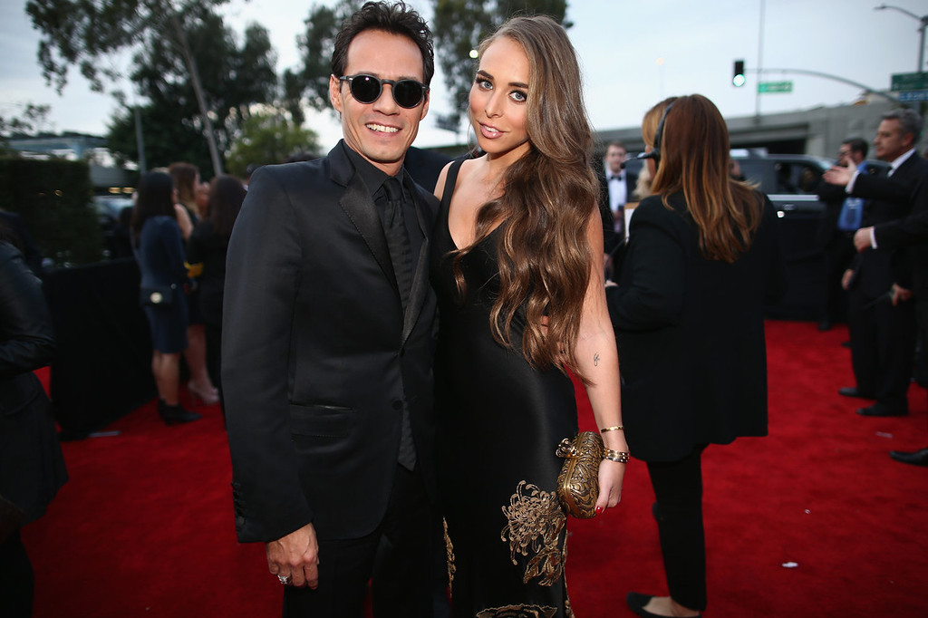 . Musician Marc Anthony and TV personality Chloe Green attend the 56th GRAMMY Awards at Staples Center on January 26, 2014 in Los Angeles, California.  (Photo by Christopher Polk/Getty Images for NARAS)