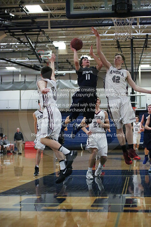 Feb 11, Boys' Varsity Basketball vs Anoka