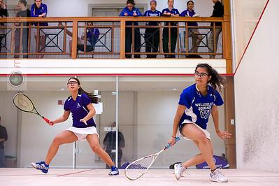 2013-01-18 Ericka Robertson (Amherst) and Haley Vasquez (Wellesley)