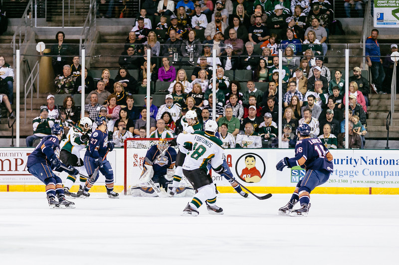 Texas Stars vs Oklahoma City Barons at Cedar Park Center - April 30 2014 - Stars win 4-2 and sweep Barons to advance to second round in Calder Cup Playoffs