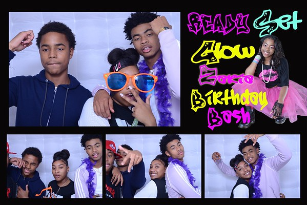 Zaria's Sweet 16 photobooth