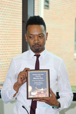 Mr .Marvin Pue's Teacher of the year 2018