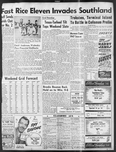 Daily Trojan, Vol. 39, No. 15, October 03, 1947