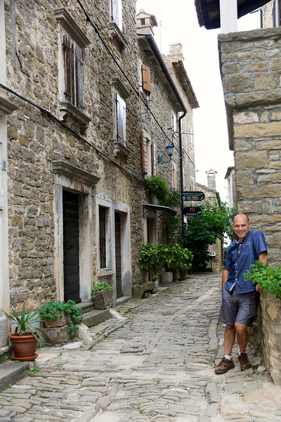 Hill town of  Groznjan in Istria, Croatia