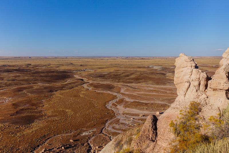 Badlands of the Blue Mesa