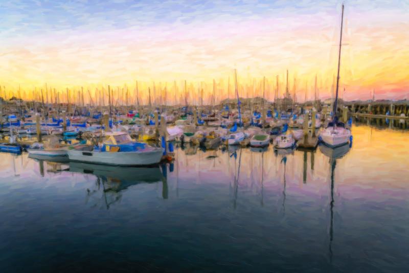 Monterey Harbor Sunset in Pastels (1 of 1).jpg