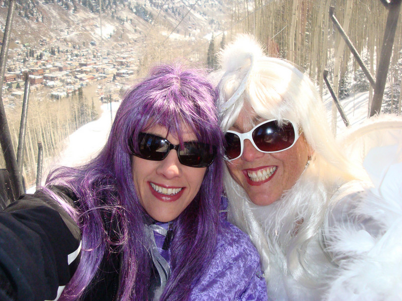 Jen Hussey and me on the Gondola at Telluride!
