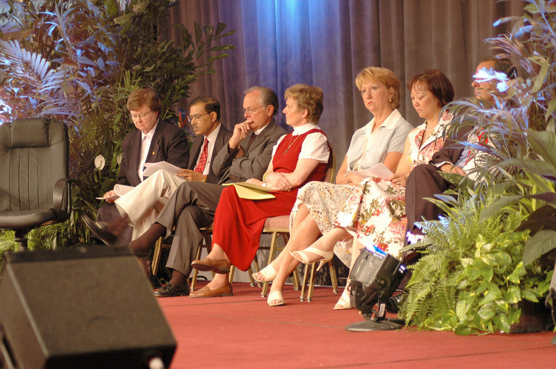 Resouce people introduce ELCA Studies on Sexuality during Plenary Session Four
