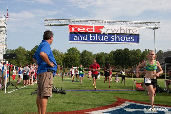 Red,White and Blue Shoes 5k 2012