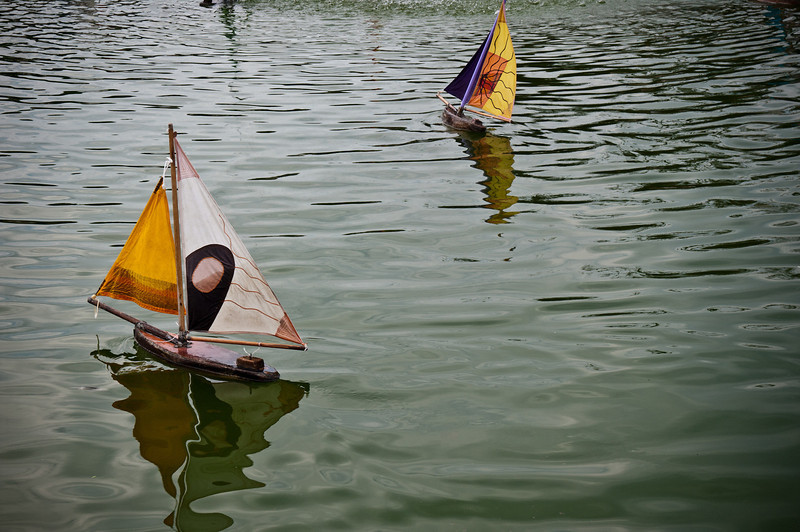 Here are some cool boats floating in the water.  Does it remind you of anything in the past?  Sometimes its good to simply push and observe in a calm environment what happens.  Take a moment to clear your mind and relax.    Also check out this link on how to make a toy boat.