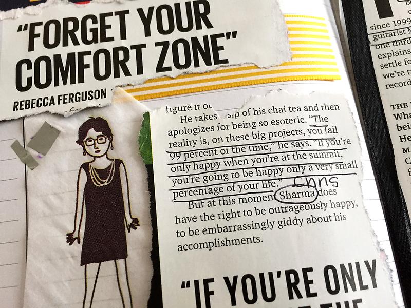 """Forget Your Comfort Zone"" - Rebecca Ferguson"