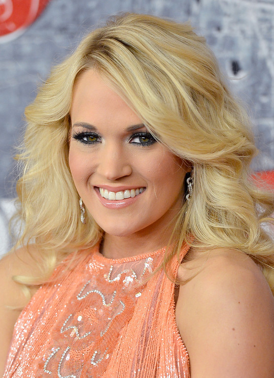 . LAS VEGAS, NV - DECEMBER 10:  Singer Carrie Underwood arrives at the 2012 American Country Awards at the Mandalay Bay Events Center on December 10, 2012 in Las Vegas, Nevada.  (Photo by Frazer Harrison/Getty Images)