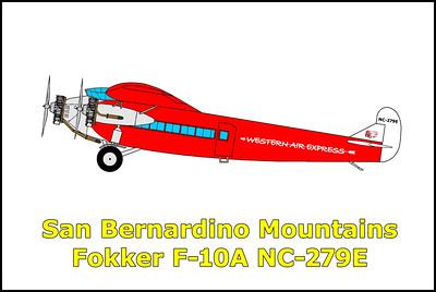 San Bernardino Mountains F-10A NC-279E 11/23/19