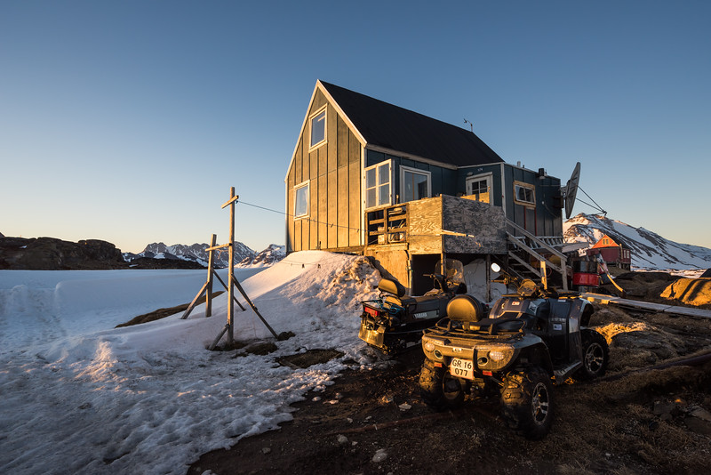 House at Kulusuk at sunset, East Greenland