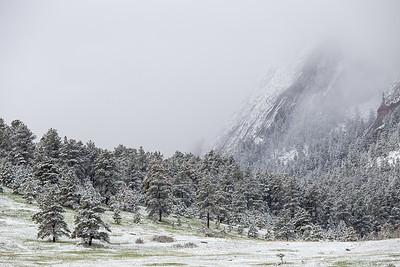 Snowy Boulder Flatirons (May '15)