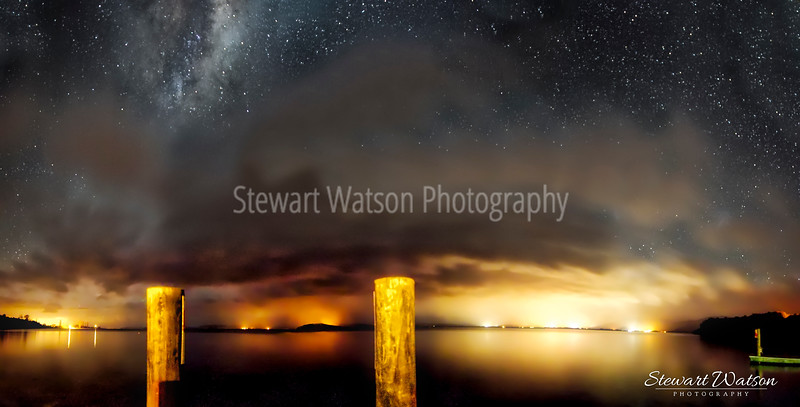 Cloudy Taupo starscape