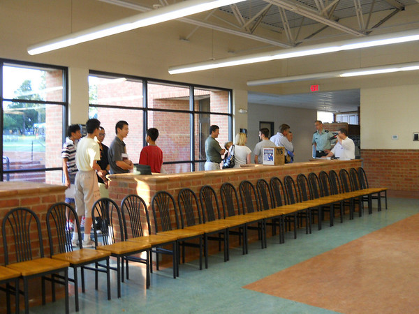 New Upper School Cadets Check In