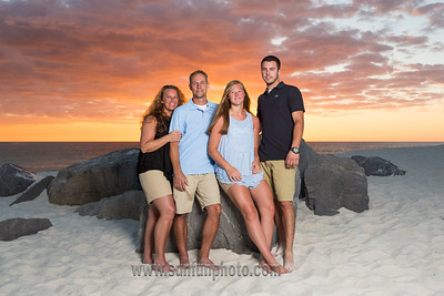 The Johnson Family Sunset Pictures Panama City Beach Florida